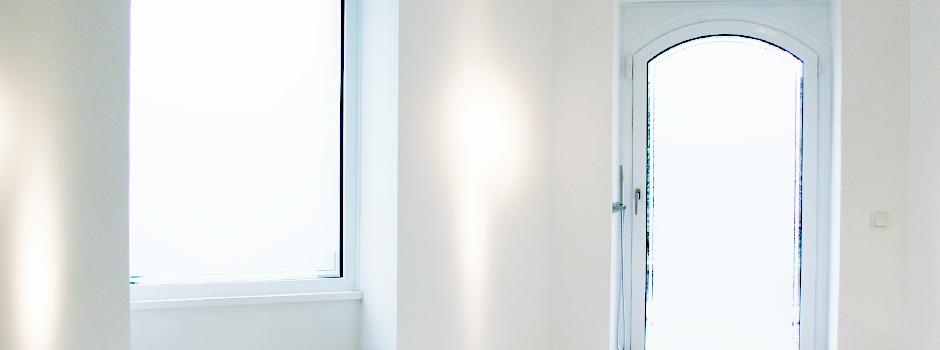 Mlichglasfolierung, Milchglas, Decorfolie, Sichtschutz